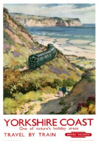 Yorkshire Coast, One of Nature's Holiday Areas. Vintage BR Travel poster. 1959